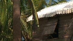 A beach shack Stock Footage