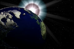 Earth and sun,space view Stock Footage