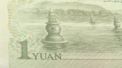 Chinese Money, 1 Yuan Stock Footage