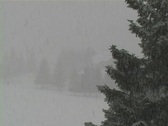 Stock Video Footage of Heavy snow fall up north