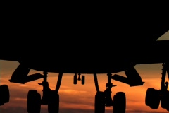 take off silhouette sunset - stock footage