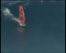 Stock Video Footage of Windsurfing Jaws