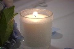 Candle3 table - stock footage