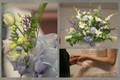 Wedding Flowers Rings Menu Stock Footage