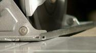 Jm042-saw cutting Stock Footage