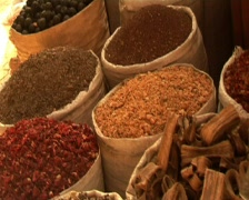 Dubai Spices Spice Souk - stock footage