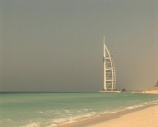 dubai burj al arab beach - stock footage