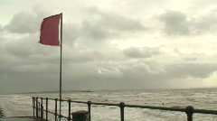 2 clips of a stormy day on the River Mersey Liverpool UK Stock Footage