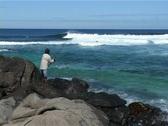 Surfing Hawaii Fisherman 01 Stock Footage