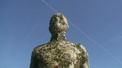 2 clips of Anthony Gormley's Another Place Stock Footage