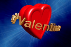 Happy Valentine gold - stock footage