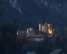 Castle Hohenschwangau Stock Footage