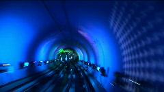 China, Shanghai, The Bund, Bund sightseeing tunnel, slow shutter speed Stock Footage