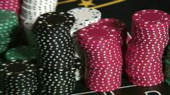 Jm063-Poker Chips Stock Footage