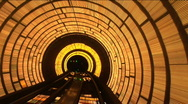 China, Shanghai, The Bund, Bund sightseeing tunnel Stock Footage