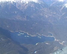 Eibsee from above Stock Footage