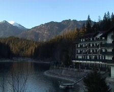 Eibsee panorama Stock Footage