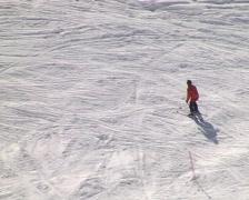 Inexperienced skier - stock footage