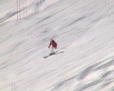 Experienced skier Stock Footage