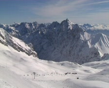Alpine panorama - Zugspitze Stock Footage