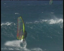 Windsurfing maui 1 Stock Footage
