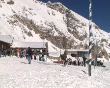 Alpine ski-resort Zugspitzplatt Stock Footage