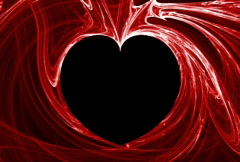 Red heart flame fractal (NTSC) - stock footage