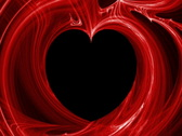 Stock Video Footage of Red heart flame fractal (NTSC)