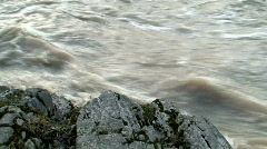 Stream of water in spring two Stock Footage