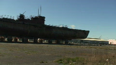 German U-boat U-534 Stock Footage