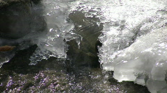 Closeup of melting ice as spring season arrives (High Definition) Stock Footage