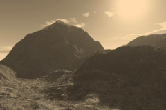 1 Beautiful Mountain Ranges in Sepia Tones Stock Footage