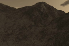 3 Beautiful Mountain Ranges in Sepia Tones Stock Footage