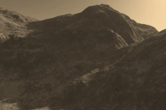 5 Beautiful Mountain Ranges in Sepia Tones Stock Footage