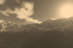 8 Beautiful Mountain Ranges in Sepia Tones Stock Footage