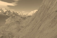 9 Beautiful Mountain Ranges in Sepia Tones Stock Footage