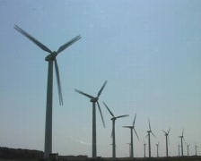 Windturbines in Portugal Stock Footage
