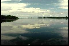 Navigating the Rio Negro - stock footage