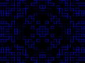 Kaleidoscopic blue grid Stock Footage