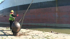 Tanker tied up in dock. HD 1080i Stock Footage