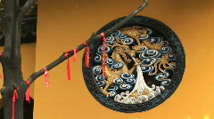 Carved Dragon at Temple Stock Footage