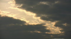Beautiful timelapsed clouds move and continuously change shape (High Definition) Stock Footage
