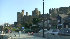 3 clips of Conway castle, Wales, UK Stock Footage