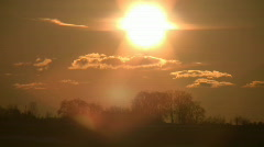 Beautiful timelapsed sunset in the country (High Definition) Stock Footage