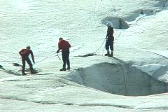 Glacier Exploration Stock Footage