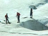 Stock Video Footage of Glacier Exploration