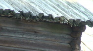 Roof of country house Stock Footage