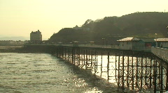 Pier at dusk. HD 1080i Stock Footage