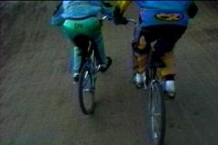 BMX racing POV Stock Footage