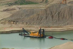 Gravel pit Stock Footage